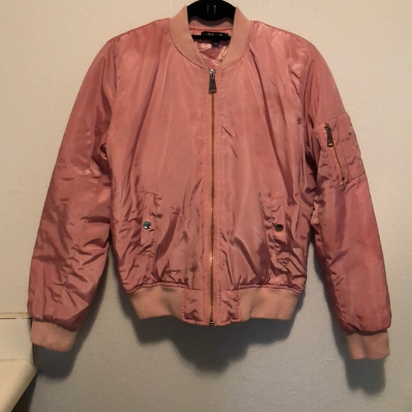 298bedac8 Dusty rose colored bomber jacket